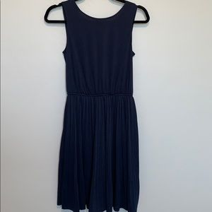 Gorgeous navy blue pleated midi dress- size XS
